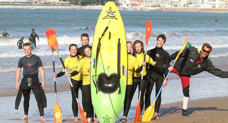 Stage de Surf et stage de voile Sables d'Olonne colos sportive