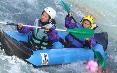 colos sportive rafting canoe dans les alpes