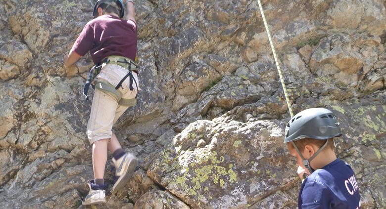 sejour linguistique et escalade alpes ados