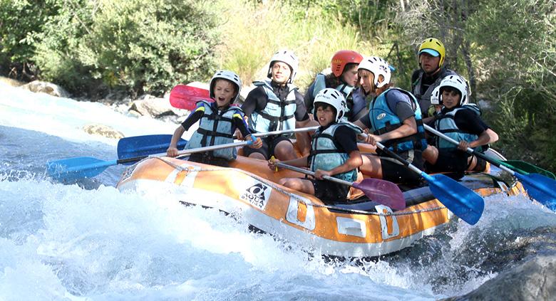 colos sportive alpes rafting